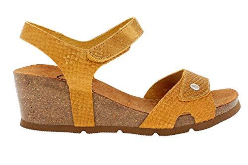 YOKONO Cadiz Sprinter, Sandalias con Plataforma para Mujer, Amarillo (Mostaza 007), 39 EU
