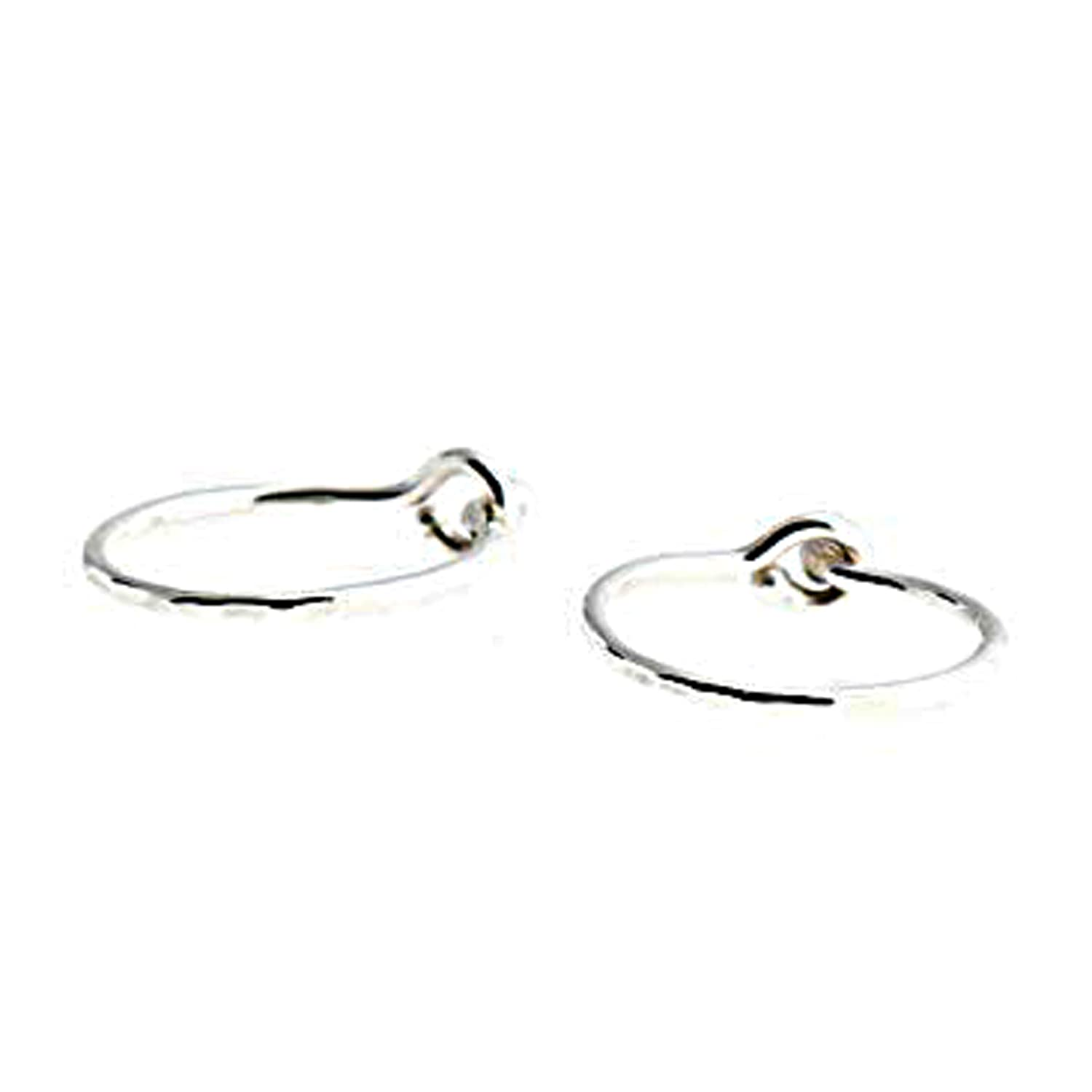 Extra Max 56% OFF Factory outlet Small 7mm and Thin 22 Hoops Piercing Silver Sterling Gauge