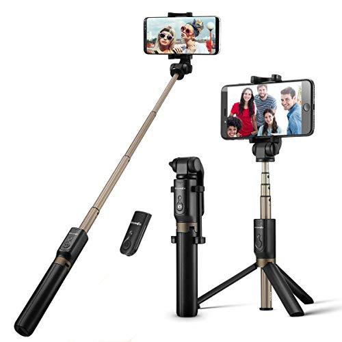 BlitzWolf自撮り棒 三脚&分離可能ワイヤレスリモコンシャッター iPhone/Androidなど3.5-6インチスマホ対応