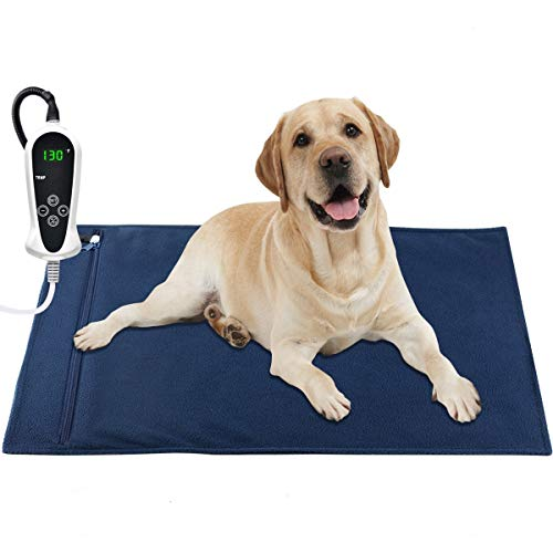 AILEEPET Pet Heating Pad Large, 32X20Inch Dog Cat Warming Pad Electric Heating Pad for Dogs and Cats Heated Pet Bed Indoor Warming Mat with Auto Power Off