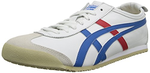 Onitsuka Tiger Mexiko 66 Fashion Sneaker, Weiá (White/Red/Blue), 44.5 EU