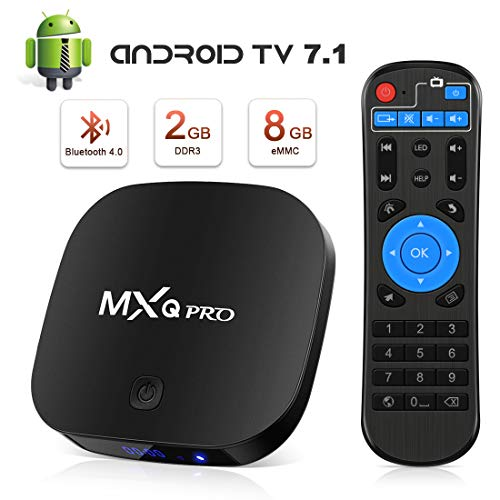 Android TV Box - Leelbox Smart TV Box 2GB RAM & 8GB ROM, Quad Core Android Box Wi-Fi integrato/BT 4.1/ Box TV UHD 4K TV Media Player, Android Set-top-Box