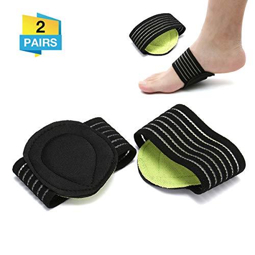 Charminer Gepolsterte Kompressionsbandage für Fußgewölbe, Unterstützung für Fersensporn Plantarfasziitis Fußpolster orthopädische Einlegesohlen Socken, für Plantarfasziitis, flache Füße, Fußschmerzen
