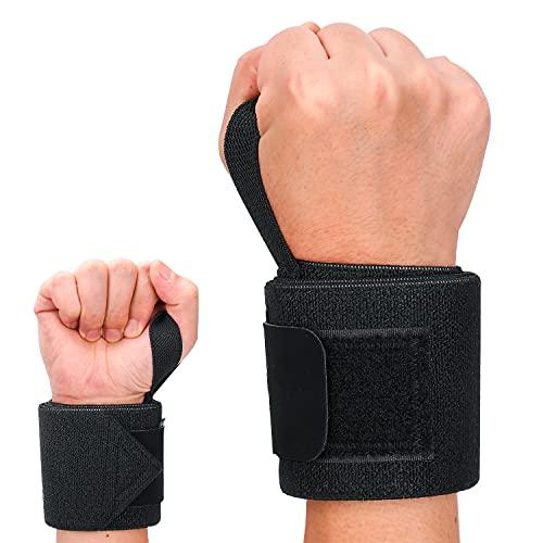 UNIQUEBELLA Handgelenk Bandagen, 2er Set Wrist Wraps, 65cm Profi Handgelenkbandage für Kraftsport, Fitness, Sport, Bodybuilding, Crossfit, Powerlift, Handgelenkstütze für Frauen Männer