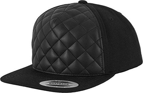 Flexfit Mütze Diamond Quilted Snapback, black, one size