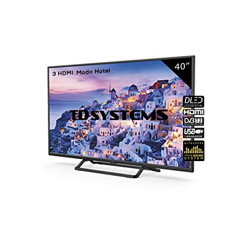 Televisor Led 40 Pulgadas Full HD, TD Systems K40DLX9F. Resolución 1920 x 1080,...