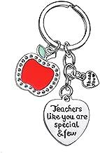 BESPMOSP Teacher Thank you Heart Keychain Keyring Appreciation Graduation Gifts Women Teacher's Day Jewelry