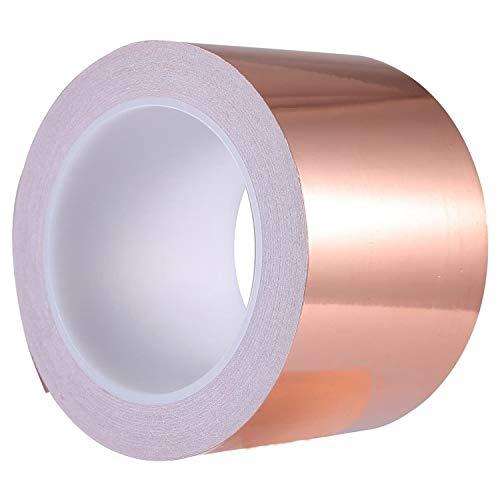 Wobekuy Cinta de cobre de 70 mm x 20 m para blindaje...