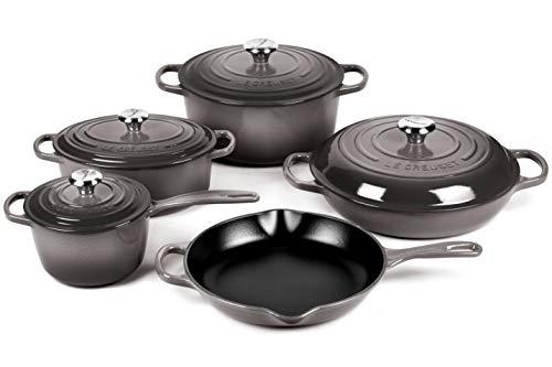 Le Creuset 9-piece Signature Cast Iron Cookware Set (Oyster)