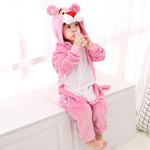 FZH Pijama Pijamas de Franela de Leopardo Rosa para Adultos, Ropa de Dormir de Animales, Pijama para...