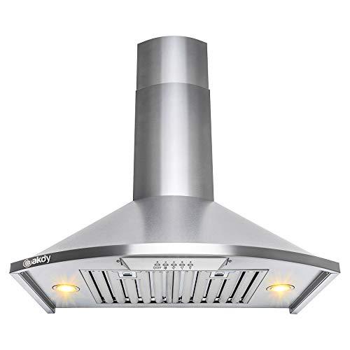 "Golden Vantage 30"" Wall Mount Stainless Steel Push Button Control Kitchen Range Hood Stove Vent"