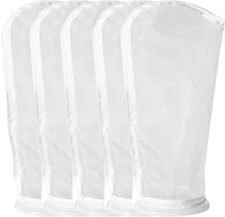 Honritone 5Pack Nylon Mesh Filter Socks 4 Inch 50/75/100/200/300/400Micron - by 14 Inch Long – Aquarium Filter Bags