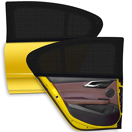 WEARXI Tendine Parasole Auto Bambini - 2 Pezzi Parasole Auto Bambini, Parasole Finestrino Auto Pellicola Oscuramento Vetri Auto, Accessori Auto Block Raggi UV Anti-Zanzara, Protegge Bambini & Animali