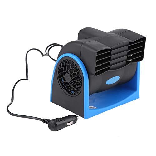 Ventilador de coche, Mini ventilador de coche eléctrico portátil, Ventilador de refrigeración ajustable, Ventilador de aire silencioso de 12 V con enchufe para encendedor de cigarrillos para coche, ca