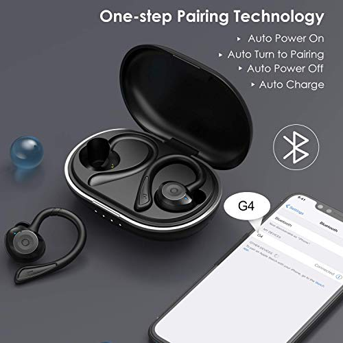 Ecouteur Bluetooth, Muzili IPX7 Écouteur sans Fil Sport Étanche 3D Hi-FI Son Stéréo, Anti-Bruit CVC 8.0, 80 Heures Durée de Lecture Oreillette Bluetooth 5.0