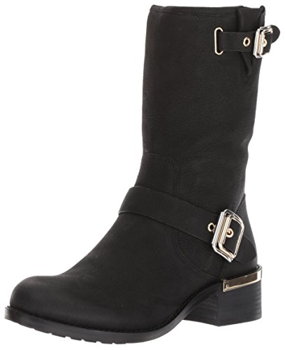 Vince Camuto Women's Windy Motorcycle Boot, Black, 6.5
