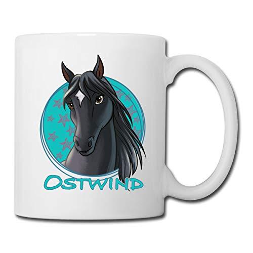 Ostwind Pferd Porträt Tasse, Weiß