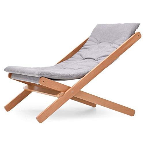 Unbekannt Lazy 35.43X23.62X30.71Inch Chaises en Bois Massif pour Chaise de Balcon et Chaise Longue avec Assise Pliante