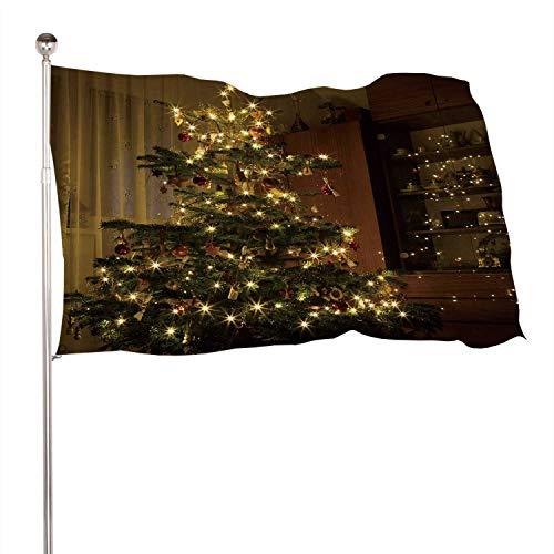 C COABALLA Nativit Scene Decoration Under ed Christmas Tree Scene,Indoor Outdoor Banner 100% Polyester Flag Banner Christmas 4x6 Ft