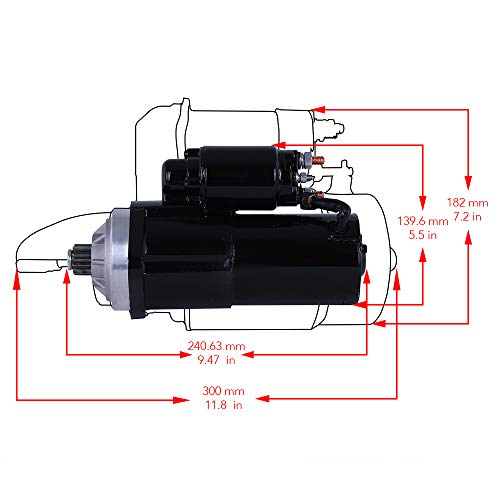 Rareelectrical New Gear Reduction Starter Compatible With Crusader Marine Inboard & Sterndrive 1977-1995 by Part Number STM59LHHD PG260L