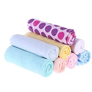 YeahiBaby 20cm Toallitas para toallitas para bebé - algodón suave, paquete de 8
