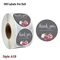 Sariyao 500枚花シールステッカー、結婚式スクラップブックのための装飾的な包装ビジネスステッカーギフト、ホームメイドギフト