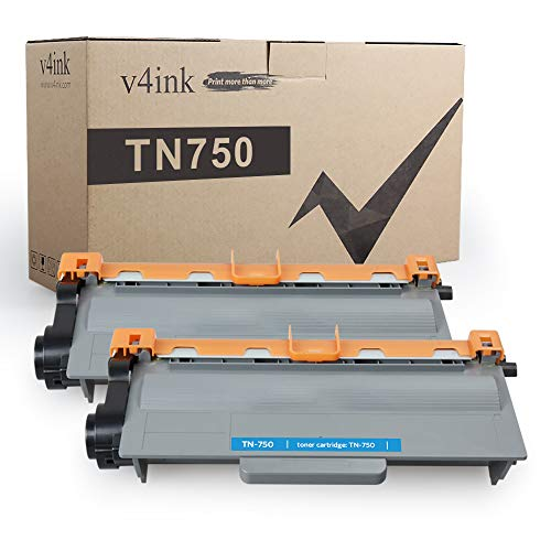 V4INK 2-Pack Compatible Toner Cartridge Replacement for Brother TN-750 TN750 TN-720 TN720 High Yield Toner Cartridge for Brother hl-5470dw HL-5450dn hl-6180dw mfc-8710dw mfc-8950dw mfc-8910dw Printer