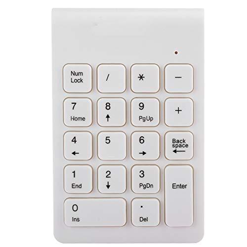 Teclado numérico 2.4G USB 2.0, teclado numérico portátil inalámbrico de 18 teclas, extensiones para la entrada de datos de contabilidad financiera para teléfonos inteligentes, tabletas, computadoras p