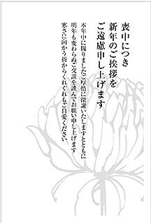 《官製 10枚》喪中はがき(No.K807たて)《63円切手付ハガキ/胡蝶蘭切手/裏面印刷済み》