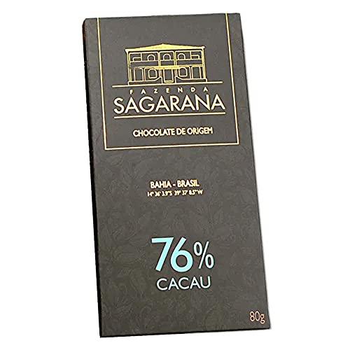 Chocolate 76% Cacau Fazenda Sagarana 80g