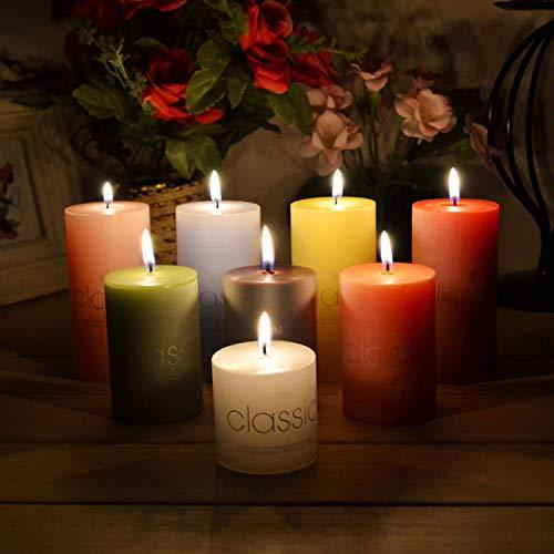 NULL LED theelichtjes, klassieke 5 cm zuil wax aromatherapie Smokloze kaars Non Toxic slaapmiddel aromatische kaars Yoga geurkaars Home Decoration