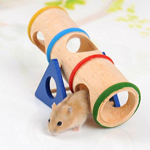 REFURBISHHOUSEPiccolo Parco Giochi per Animali Domestici - Giocattolo in Legno Altalena per Piccoli Animali Come Criceto Nano e Topo