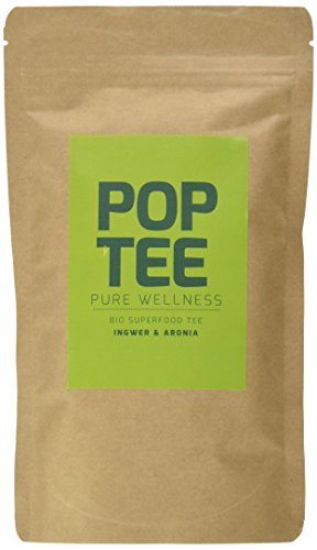 POP TEE Ingwer und Aronia Tüte, Wellnesstee, Superfood, Pure Wellness, 2er Pack (2 x 60 g)