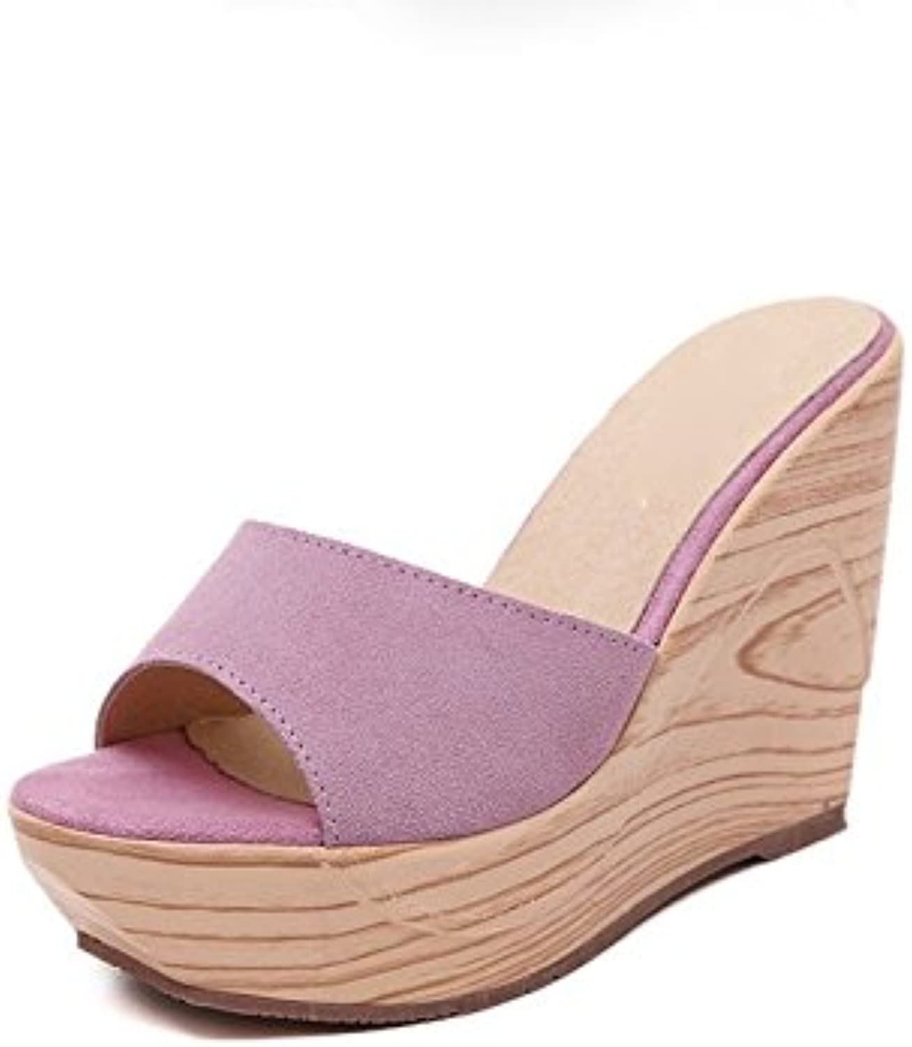 Weiwei Women's Sandals and Slippers, 12cm Super High Heels Summer Thick-Soled Casual Sandals and Slippers