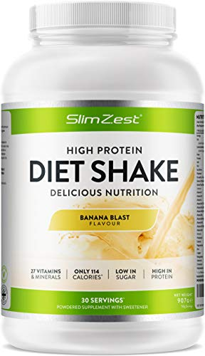 Diet Shakes - Meal Replacement Shakes - Weight Loss Support & Control - Fuller for Longer - 27 Vitamins & Mineral - Low Calorie - High Protein Delicious Smooth Shakes - for Men & Women - UK Made