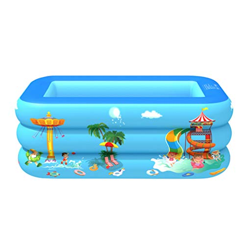 CLISPEED Piscina Inflable Hinchable Salón de Piscina Familiar Piscina Infantil para Niños Adultos Jardín Juego de Juguete (Azul) 130 Cm de Tres Capas
