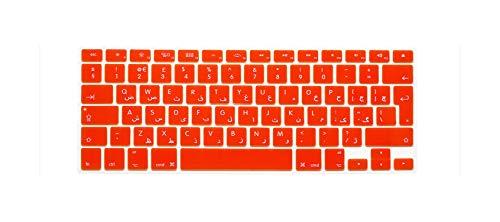 Funda protectora para teclado de MacBook Pro 13 Air de 15 pulgadas con diseño árabe de la UE naranja