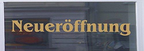 Don Cappello Neueröffnung Schaufensterbeschriftung Aufkleber Werbung Auto Laden Gold 1 Stück 60 cm