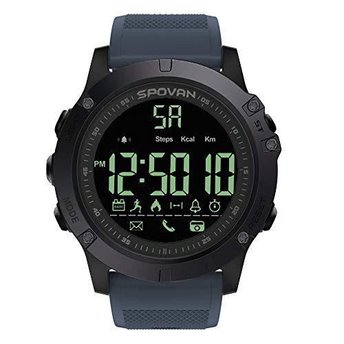 Explopur SPORTUHR - Outdoor Digital Smart Sportuhr Für Männer Mit Pedometer-Armbanduhr Für Ios Und Android 50M Wasserdicht