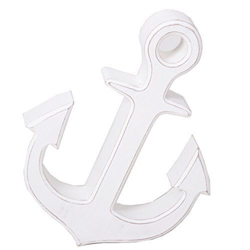 Holzanker | Anker Shabby weiß stehend |Maritime Dekoration | Deko maritim | Anker zum Stehen | Schiffsanker | Bootsanker | Dekoanker | Anker von Seaside 64