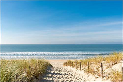Muralo Fototapete Strand 180 x 270 cm Vlies Tapete Wandtapete Dünen Meer Himmel Wohnzimmer Schlafzimmer Moderne Wandbilder XXL Natur Panorama Wasser Wand Dekoration