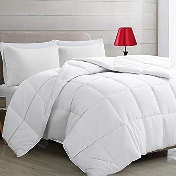 Harkawon Soft Down Alternative Reversible Queen Comforter (White)