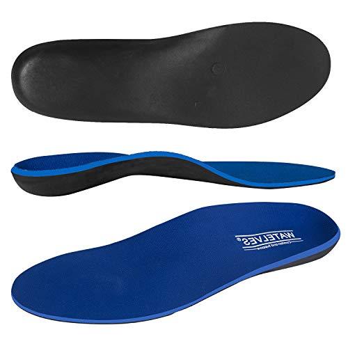 WateLves Shockless Schuheinlagen Fersengepolsterte Orthopädische Einlegesohlen für flache Füße Einlagen Comfort Premium Federleichter Laufkomfort, Blau, 38 EU