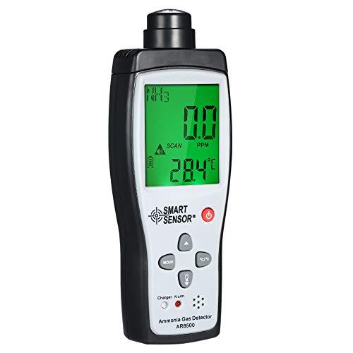 Fesjoy Ammoniak-NH3-Detektor, Ammoniak-Detektor Ammoniak-Gaszähler Digital Portable Automotive Ammoniak-Gas-Tester Monitor NH3-Detektor