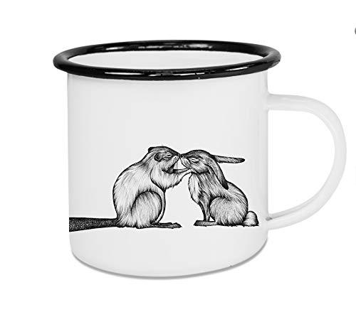 Ligarti Tiermanufaktur - Emaillebecher Tasse Kuscheltiere