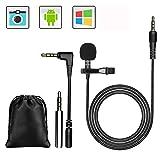 GeekerChip Mini Microphone pour Téléphone,pour PC 3.5mm Jack Audio avec Pince pour Skype,pour l'enregistrement d'entrevue/vidéoconférence/Podcast/dictée vocale/téléphone