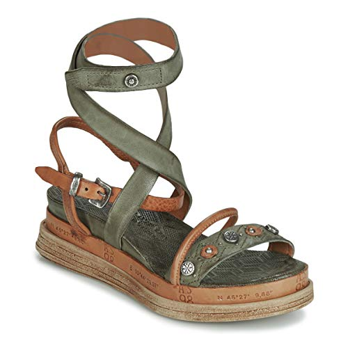 airstep / a.s.98 Lagos Sandalen/Sandaletten Damen Kaki - 38 - Sandalen/Sandaletten Shoes