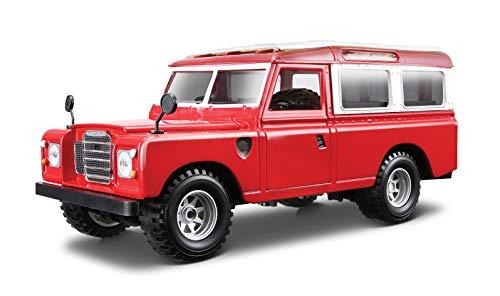 Bburago - Land Rover Series II, color rojo (18-22063) ,