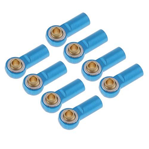 perfeclan 8 Stücke M3 Aluminium Kugelgelenk Gelenkkopf für 1/10 RC Crawler - Blau