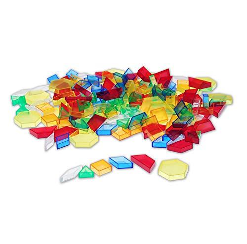 Bloques para patrones, 180 piezas, translúcidos